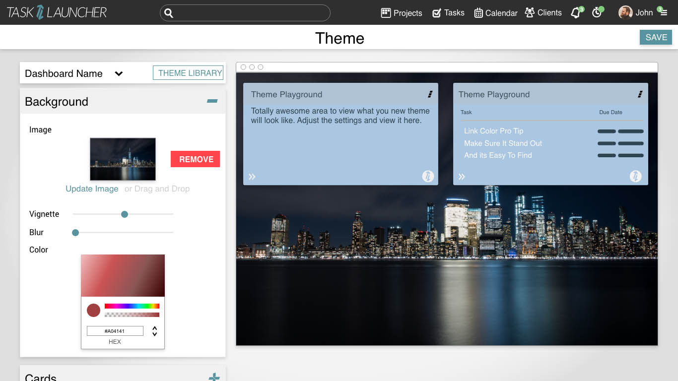 Custom Theme for platform